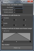 arShake 0.1.3 for Maya (maya script)