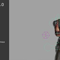 Troglo-Autorig, for biped game characters for Maya 1.1.0 (maya script)