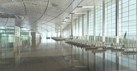 Airport Terminal Lobby 001 3D Model