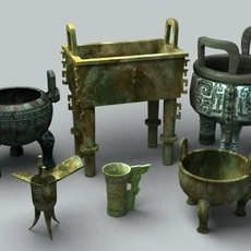 Chinese Bronze 1 3D Model