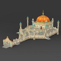 Fantasy Castle Raj Mahal 3D Model