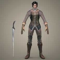 Fantasy Character Prince Vikram 3D Model