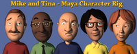 Free Mike and Tina Character Rig for Maya 2.8.0