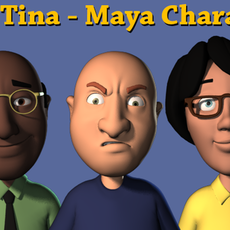 Mike and Tina Character Rig for Maya 2.8.0