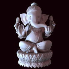 Indian Elephant God Statue 3D Model