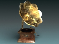 Antique Victrola Gramophone 3D Model