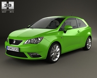 Seat Ibiza SC 2013 3D Model