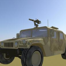 Humvee-Desert Camo Version 3D Model