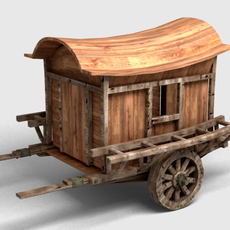 Ancient Carriage 3D Model