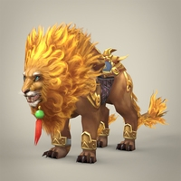 Fantasy Warrior Lion 3D Model