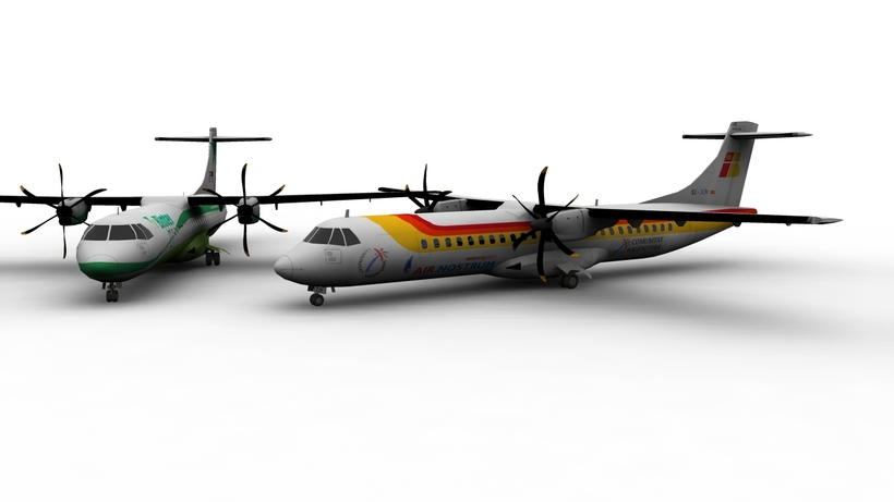 ATR 72 Aircraft FOR GAMES 3D Model