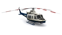 Bell 412 NYPD FOR GAMES 3D Model