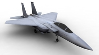 F15 McDonnell Douglas FOR GAMES 3D Model