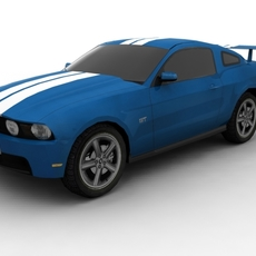 Ford Mustang FOR GAMES 3D Model