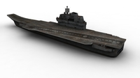 Kuznestov Russian Aircraft Carrier FOR GAMES 3D Model