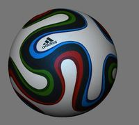 Fifa 2014 Ball- Brazuca 3D Model
