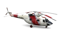 PZL-Sokol Helicopter FOR GAMES 3D Model