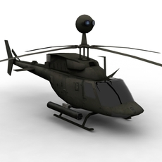 Kiowa OH-58 FOR GAMES 3D Model