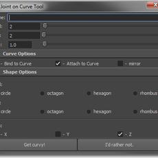 Joint on Curve Tool for Maya 1.0.1 (maya script)