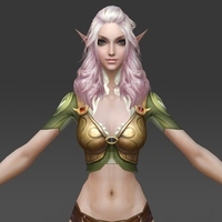 Fantasy Girl Queen Sujata 3D Model