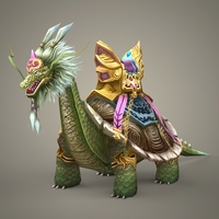 Fantasy Dragon Dingara 3D Model