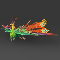 Fantasy Peacock 3D Model
