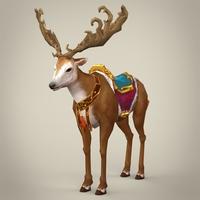 Fantasy Reindeer 3D Model
