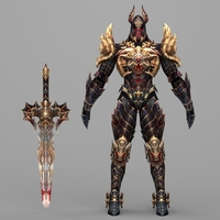 Fantasy Character Hell King Hipesh 3D Model