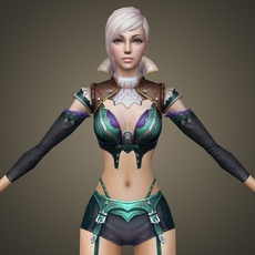 Fantasy Female Princess Keli 3D Model