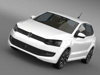 Volkswagen Polo BlueMotion 5d 2014 3D Model