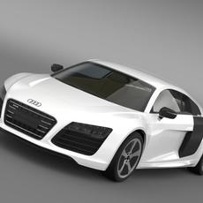 Audi R8 LMX 2014 3D Model