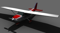 Cessna 172 FOR GAMES 3D Model