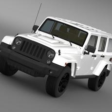 Jeep Wrangler Unlimited Rubicon X 2014 3D Model