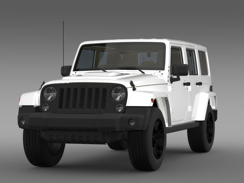 jeep wrangler unlimited rubicon x 2014 3d model. Black Bedroom Furniture Sets. Home Design Ideas
