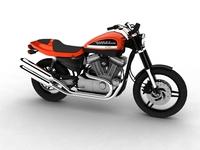 Harley-Davidson XR1200 2012 3D Model