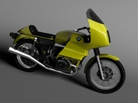 BMW R100 RS Touring 1978 3D Model