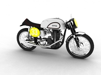 Norton Manx 1954 3D Model