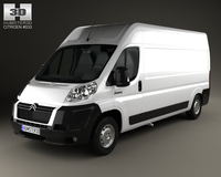 Citroen Jumper Panel Van 2012 3D Model
