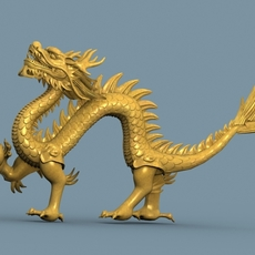 High detailed Chinese dragon 06 3D Model