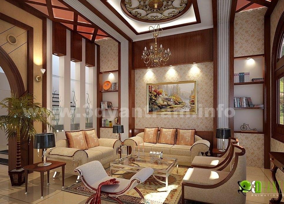 3d interior rendering classic design show