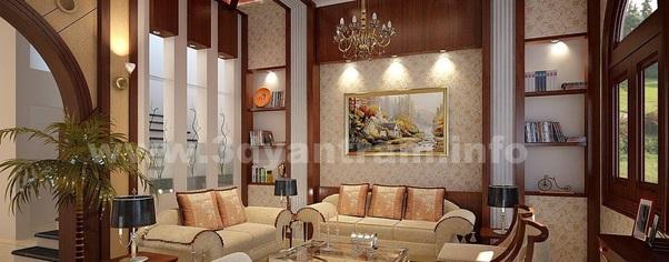 3d interior rendering classic design wide