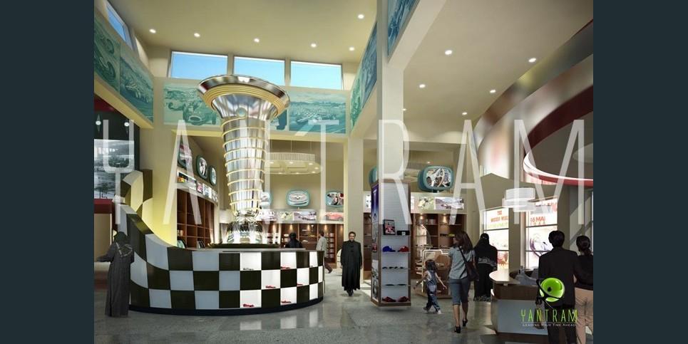 3d shopping mall interior design show