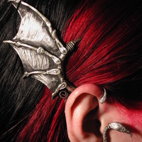 Bat wing ear cuff modeled cover