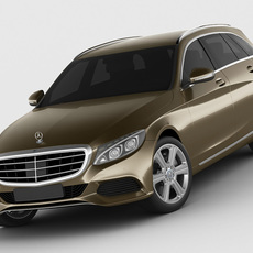 Mercedes C Class estate 2014 exclusive 3D Model