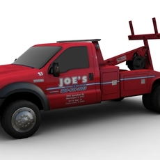 TOW CAR FOR GAMES 3D Model