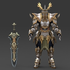 Fantasy Character King Gaurava 3D Model