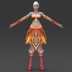 Fantasy Female Queen Manisha 3D Model