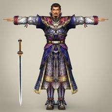 Fantasy Character Warrior Khanija 3D Model
