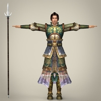 Fantasy Character Warrior Vikraal 3D Model