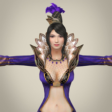 Fantasy Female Queen Punita 3D Model